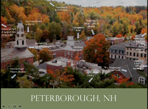 View map of Peterborough, NH attractions
