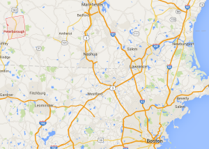 Peterborough, NH provides easy access to Boston and Manchester NH