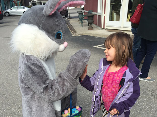 Easter Bunny visits Peterborough NH